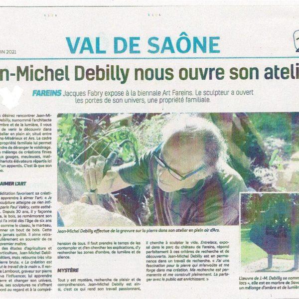 article presse Jean-Michel Debilly Voix de l'Ain