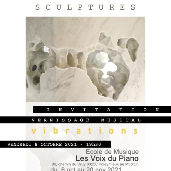 vernissage exposition sculptures piano lyon villefranche poleymieux mont d'or
